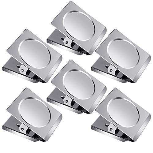 Grtard Extra Large Magnetic Clips 6pack Heavy Duty Stainless Steel Metal Clips 2.2 Inch