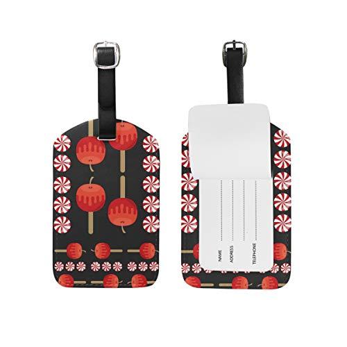 Malpela Damen Gepäckanhänger Äpfel und Bonbons, Leder
