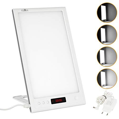 Wilktop10000 Lux - Lámpara de luz diurna regulable con 40 niveles de brillo ajustables, temporizador y función de memoria, control del tiempo de brillo, amanecer y puesta de sol