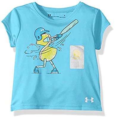 Under Armour Girls' Toddler Graphic Short Sleeve T-Shirt, Venetian Blue-S19, 2T