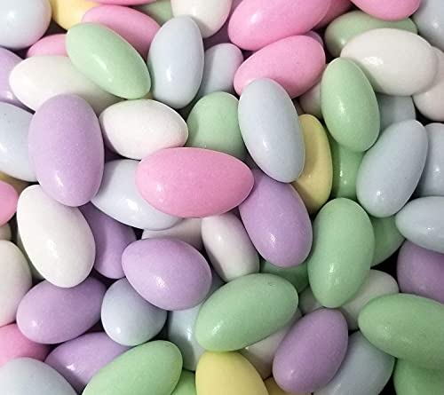 CrazyOutlet Jordan Almonds Glaze Covered, Pastel Candy Coating Bulk Pack 2 Lbs