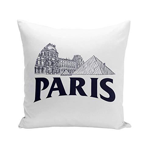 Fabulous Coussin 40x40 cm Paris Minimalist Louvre France Ville