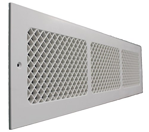 SMI Ventilation Products EWM630 Cold Air Return - 6 in x 30 in Essex Style Wall Mount - Overall Dimensions 8 in x 32 in