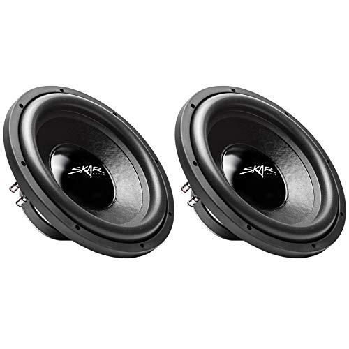 "(2) Skar Audio iX-12 D4 12"" 500W Max Power Dual 4 Ohm Car Subwoofers, Pair of 2"