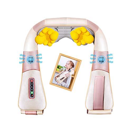 Massaggiatore per la schiena inferiore, massaggia il cuscino riscaldante a infrarossi con 16 testine massaggianti per collo, spalle, schiena, vita, braccia e suole. Cuscino cervicale massaggiante