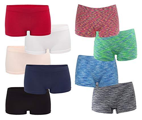 Fabio Farini Seamless Damen Pantys Panties Hipsters Boxershorts nahtlos aus Weichem Microfaser-Gewebe 6/12/18/24 Pack Set Multipack, 6er Pack, 36/38