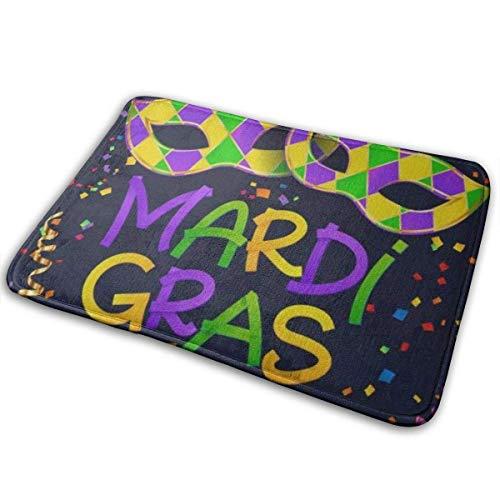 LAURE Teppich Fußmatte außerhalb, Innen Fußmatte Vordertürmatte rutschfeste Fußmatten Bunte Karneval Karnevalsmaske Farbe Konfetti 40x60cm