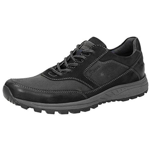 Sioux Herren Fabilao Sneaker, Schwarz (Schwarz/Asfalto), 44 EU