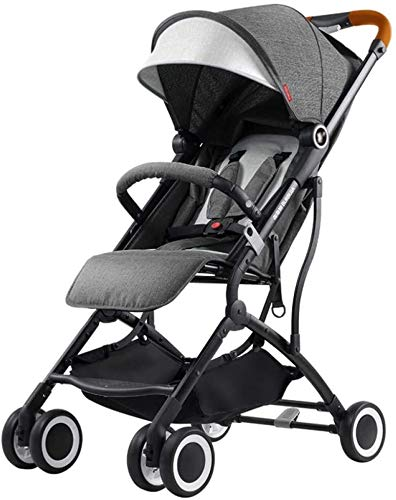 LAMTON Baby Stroller for Newborn, Pushchair Lightweight Stroller One Hand Fold Travel Buggy,46x68x100cm (Color : Gray) LAMTON Adjustable handlebars for people of all heights can adjust the most comfortable push position Easy to fold, can be picked up in the trunk of the car, his parents urge him to go shopping, travel, walk, play and talk, or picnic outdoors ★ Carbon steel frame, sturdy, lightweight, durable, easy to store and travel 1