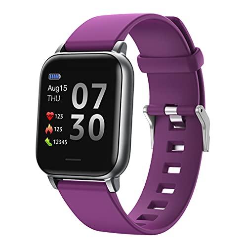 QKA Reloj Inteligente Deportivo, Hombres Y Mujeres, Deportes De Fitness, Toque Completo, Bluetooth, Ritmo Cardíaco, Presión Arterial, Impermeable, Reloj Inteligente, para iOS Android,B
