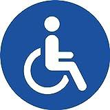 STROBO 4x handicapé autocollant fauteuil roulant voiture autocollant 9.5 x 9.5...