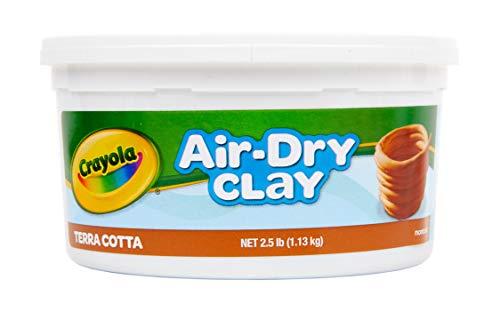 Crayola Air Dry Clay, Terra Cotta, 2.5 Lb Per Pack