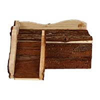 POPETPOP ハムスターハウス木製小屋ハムスターcatleラット遊び場ハイダウェイルーム木製ハムスター生息地マウスgerbilウサギ小動物