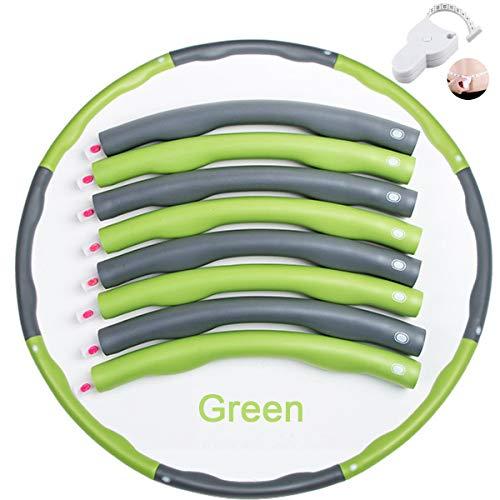 sancuanyi Hula Hoop Reifen Erwachsene, Reifen mit Schaumstoff von 0,75 bis 1,0kg einstellbar, mit Mini Bandmaß für Erwachsene Anfängermit Gymnastikreifen zum Abnehmen, Fitness, Massage