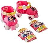 Stamp- Disney Minnie Set Patins A roulettes C/GENOUILLERES, J862035, Pink