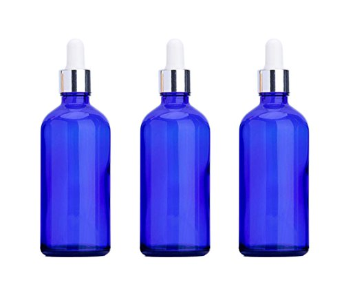 3 frascos de cristal vacíos para aceites esenciales, con tapa de goma...