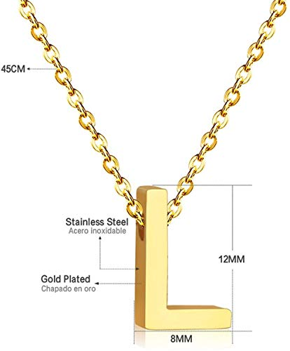 AOAOTOTQ Co.,ltd Necklace Letter Necklace for Women Stainless Steel Jewelry 26 Initial Necklace Alphabet Necklaces