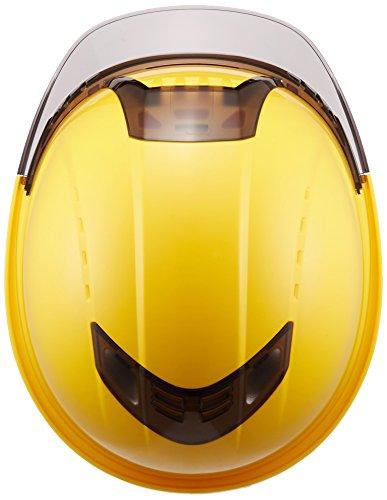 TOYOシールド付きヘルメットヴェンティープラススチロール入りうす黄/スモーク/クリアNo.391F-S-C