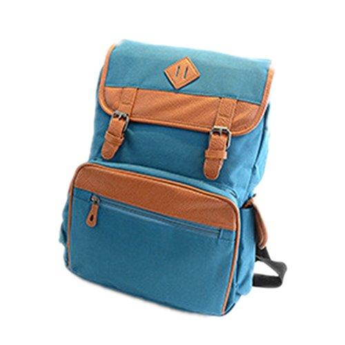 Fata coppia unisex borsa a tracolla Tempo libero Borsa Zaino moda multifunzione in vari colori c5165, Blue, 40x30x12cm