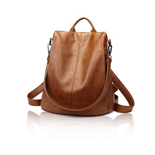 EGOKEE Anti-Theft Woman Backpack Purse PU Leather Waterproof Rucksack Travel Bookbag and Handbags for Girls