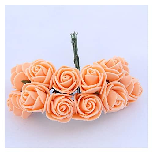 YINGNBH Rosas Artificiales Barato Mini Rosa Flor Artificial Flor de Espuma DIY...