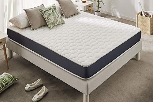 Naturalex | Ergolatex | Colchón 90x190 Cm Calidad Duradera | Adaptabilidad y Confort Equilibrado | Capsulas Refrescantes MemoFeel | Tecnología Blue-Látex Ultima Generación | 7 Zonas de Confort