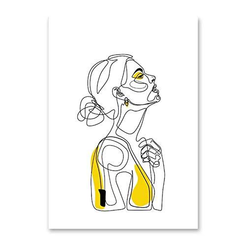 Hllhpc kunstenaarskern voor buiten, voor meisjes, eenvoudig schilderen, decoratief, voor woonkamer, veranda, om op te hangen, foto in hartvorm, zonder lijst 60 * 80cm 735