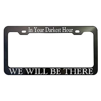 GoPlates Customized Black Anodized Aluminum License Plate Frame Laser Engraved