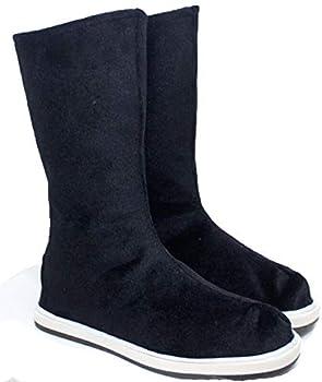 Nsoking Grandmaster Demonic Mo Dao Zu Shi Cosplay Chinese Wei Wuxian LAN Wangji Costume Hanfu Shoes Boots  US 8 European 41  01 Black