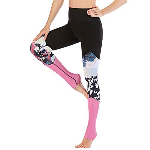 CHAOEN Damen Leggins Yoga Hosen Fußstulpe Hoher Taille Mode Bunte Laufhosen Sporthose Leggings Stretch Fitness Hose