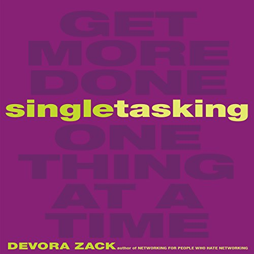 Singletasking audiobook cover art