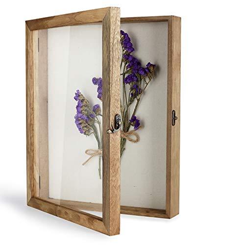 TJ.MOREE - Scatola per ombretti, 28 x 14 cm, con Retro in Lino, per Memorabilia, Mazzo di medaglie, Foto per ricordi