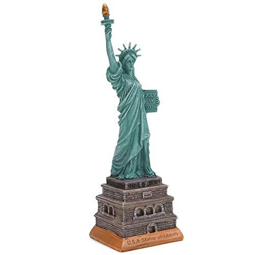 DECORATION Decoraciones para El Hogar, Decoraciones De Landmark House Model, Estatua De La Libertad De Los EE, Colecciones Decorativas, Pequeñas Esculturas, Recuerdos Turísticos (6 X 6 X 19,5
