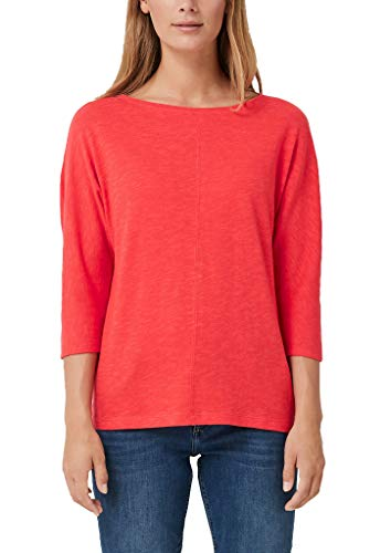 s.Oliver Damen 14.809.39.8291 T-Shirt, Rot (Coral 3214), 44