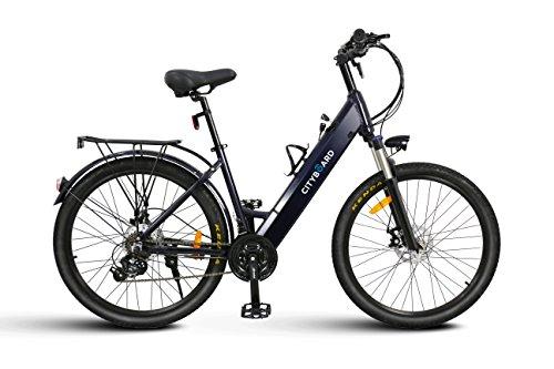 Cityboard Walk Bicicleta Eléctrica de Paseo 26 con Batería integrada, Adultos Unisex, Negro