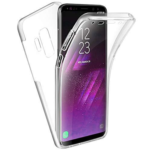 TBOC Funda para Samsung Galaxy S9 Plus - S9+ - Carcasa [Transparente] Completa [Silicona TPU] Doble Cara [360 Grados] Protección Integral Total Delantera Trasera Lateral Móvil Resistente Golpes