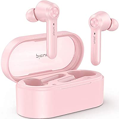 Amazon - Save 30%: Picun W20 Pink Wireless Headphones In-Ear, Bluetooth V5.0+EDR 36 H…
