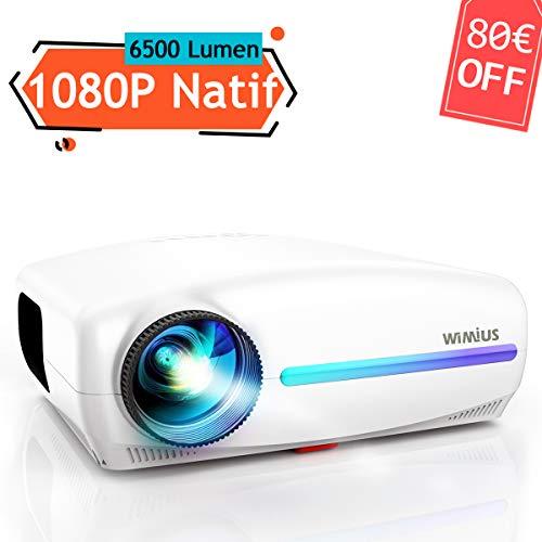 Vidéoprojecteur, WiMiUS 6500 Lumens Full HD 1920x1080P...
