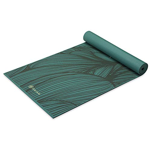 Gaiam Yoga Mat Premium Print Extra Thick Non Slip Exercise & Fitness Mat for All Types of Yoga, Pilates & Floor Workouts, River of Strength, 6mm (05-63951)