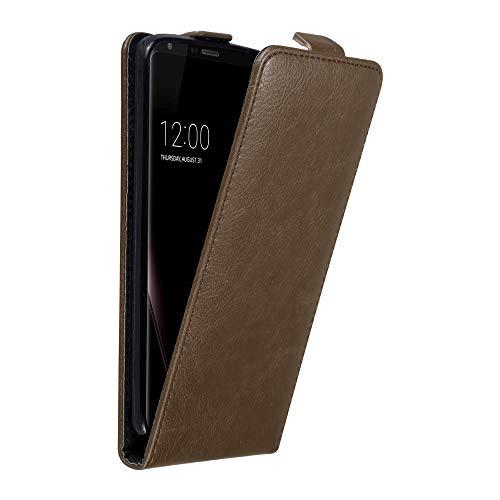 Cadorabo Custodia per LG V30 in Bruno caffè - Protezione in Stile Flip con Chiusura Magnetica - Case Cover Wallet Book Etui