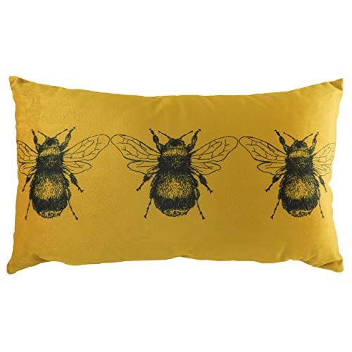 Evans Lichfield Gold Bee Cushion Cover, 30 x 50cm
