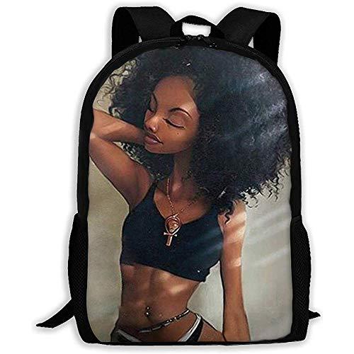Schultasche Schwarzer Bikini Afro Mädchen Afroamerikaner Mädchen Mädchen Casual Teen Reisetasche Bookbag Jungen Schulrucksack