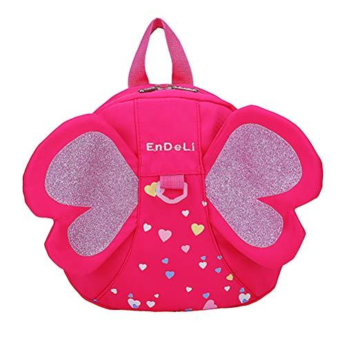 Mochila Valicclud em forma de borboleta para viagem, mochila escolar para meninas, Balconette, Vermelho, 25X23X8CM