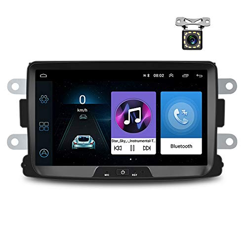 Android Autoradio für Renault Dacia GPS Navigation CAMECHO 8 Zoll Kapazitiver Touchscreen Auto Stereo Player WiFi Bluetooth FM Empfänger Dual USB für Sandero Duster Logan Dokker