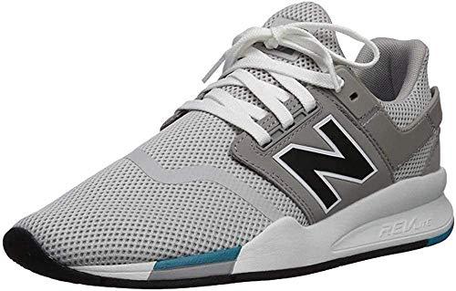 New Balance 247v2, Sneaker Uomo, Bianco (Rain Cloud/Black FC), 36 EU
