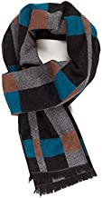 Scarf for Men Reversible Elegant Classic Cashmere Feel Scarves for Fall Winter (TA04-1)