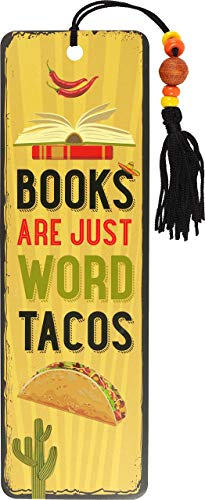 Books are Just Word Tacos Beaded Bookmark