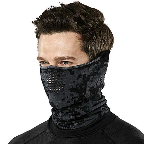 (テスラ)TESLA フェイスマスク フェイスカバー フェイスガード 軽量 洗える ネックウォーマー [UVカット・吸汗速乾] フリーサイズ YZN22-GRY_FREE SIZE4