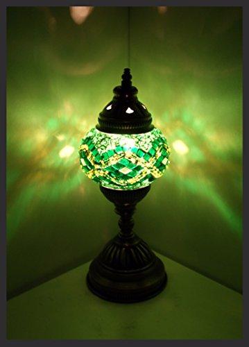 Mosaiklampe Mosaik - Tischlampe S Stehlampe orientalische lampe Grün Samarkand-Lights