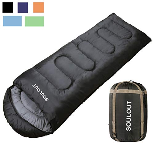 Envelope Sleeping Bag - 4 Seasons Warm Cold Weather Lightweight, Portable, Waterproof with...